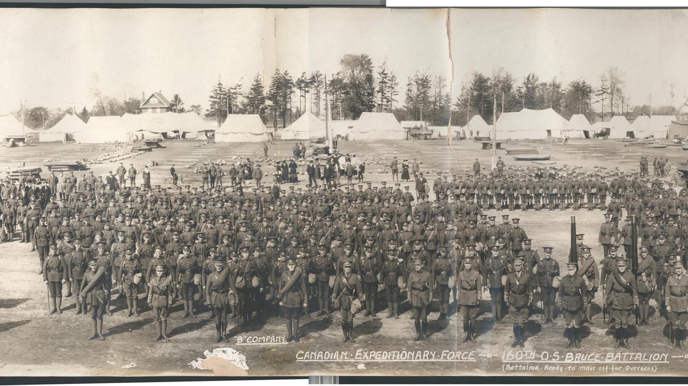 160th Battalion – Bruce Remembers
