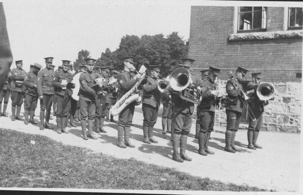 Members of 160th Battalion Band