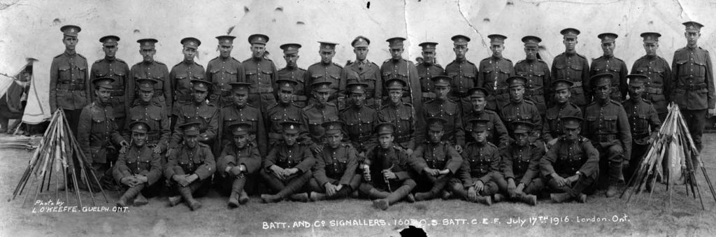 Batt. and Co. Signallers, 160th Batt., July 1916