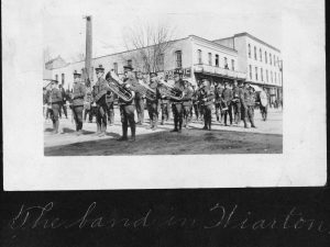 Band in Wiarton, from Roy Eidt photo album