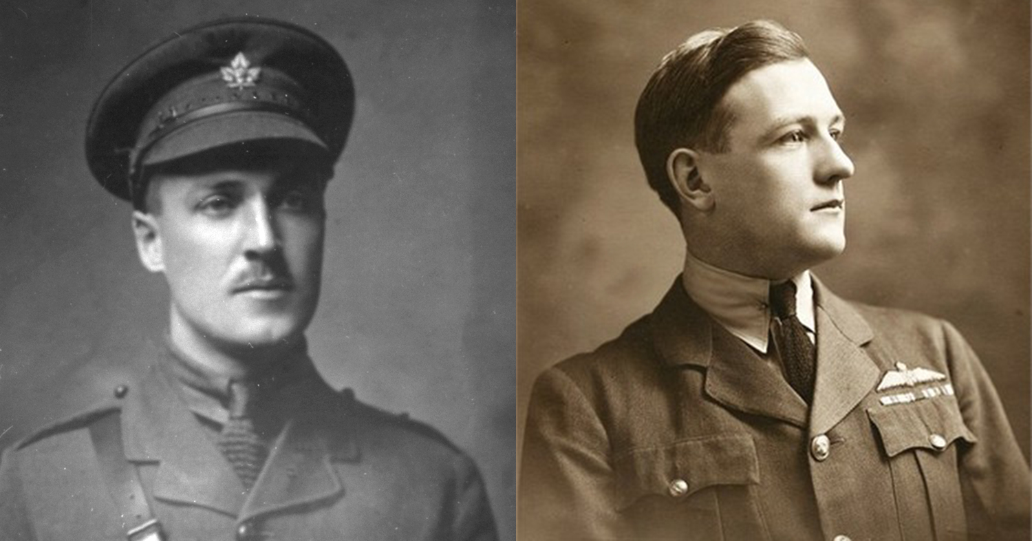 Two soldiers who joined the RFC: Eric Robertson and Peter Joseph Moloney