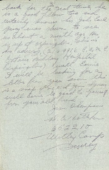 Thompson letter to Cunningham, July 23, 1917, p. 3
