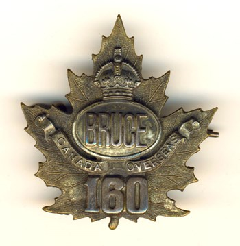 160th Bruce Battalion Cap Badge