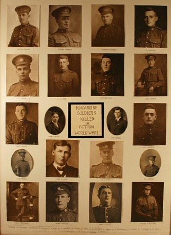 Kincardine Soldiers Killed in Action, WWI, courtesy of RCL 183