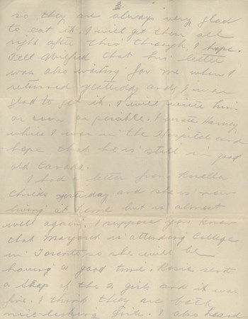 1918 Oct 31 letter to brother, page 2