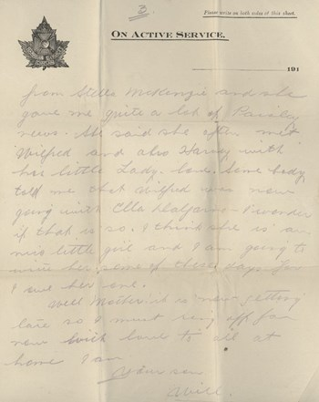 1918 Oct 31 letter to brother, page 3