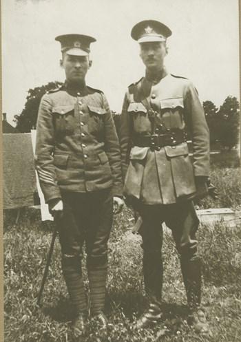 Sgt. Gordon McNally and Major Arthur McNally