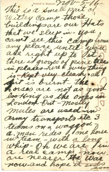 Nov. 5, 1916 postcard, back