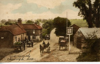 The Red Lion postcard, front