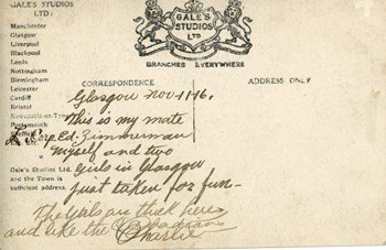 Nov. 11, 1916 postcard, back