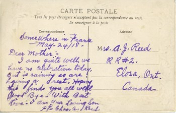 May 24, 1918 postcard, back