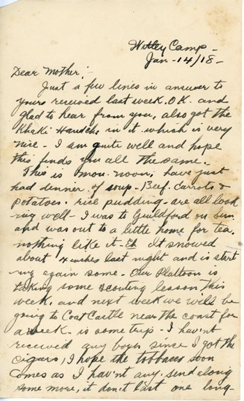 Letter to mother, p. 1