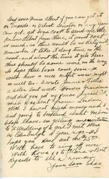 Letter to mother, p. 2