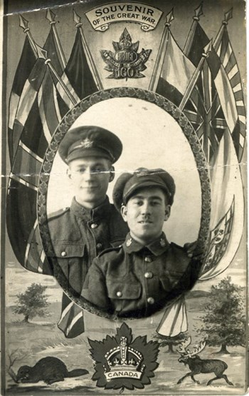 Charles Reed and unknown soldier