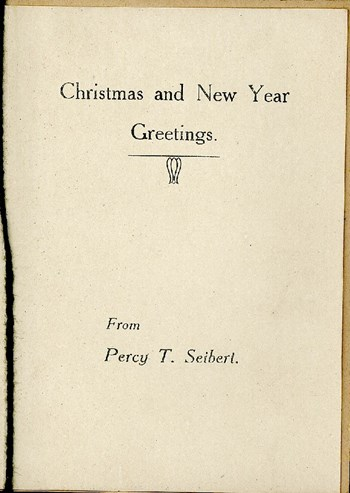 Christmas card from Percy, ca. 1916, inside