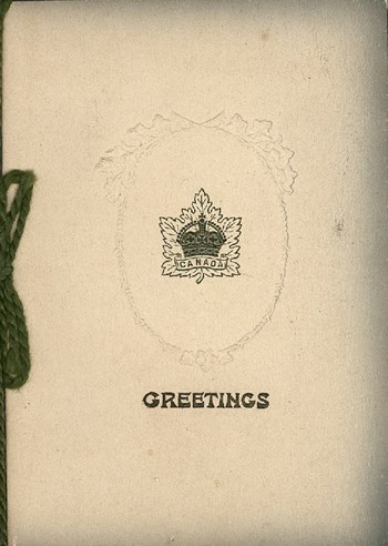 Christmas card from Percy, ca. 1916, outside