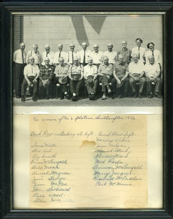 Reunion of No. 6 Platoon, 1956, courtesy of RCL #383