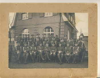 Occupation Platoon, 4th Battalion Engineers, 2nd Tara Platoon:  Elmer Wark - back, 5th from L