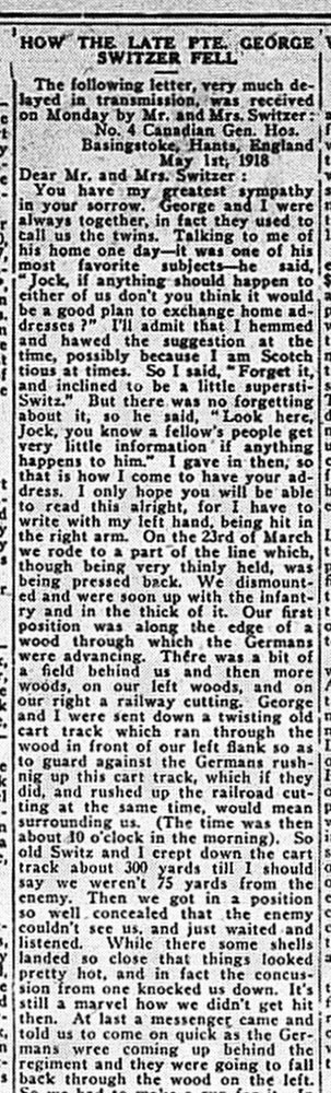 Paisley Advocate, July 3, 1918, p. 5, part 1