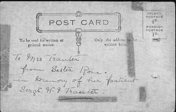 Postcard from Sister Rose, 1915