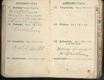 William Victor Tranter 1915 Diary